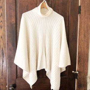 LAUREN Ralph Lauren wool ivory poncho sz S/M Wrap
